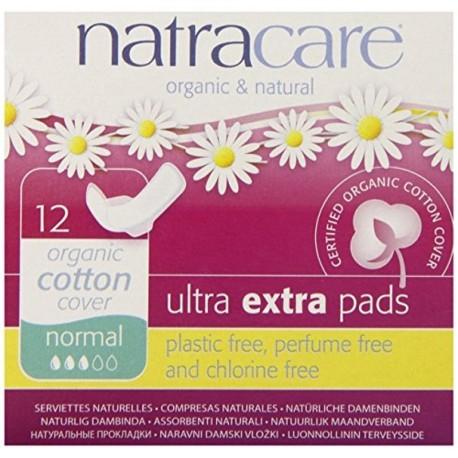Absorbante de noapte Ultra Extra Normal 12 buc - Natracare