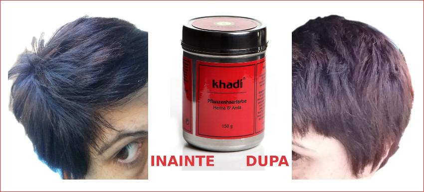 Recenzie Vopsire Par Cu Henna Si Amla Khadi
